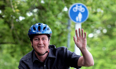 Cameron on a bike